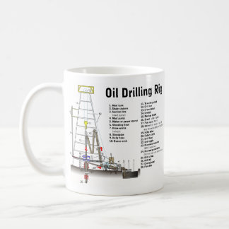Diagram of an Oil Drilling Rig Tower Coffee Mug
