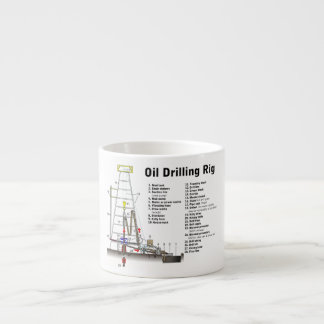 Diagram of an Oil Drilling Rig Tower Espresso Mug
