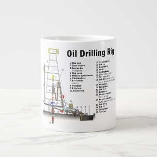 Diagram of an Oil Drilling Rig Tower Jumbo Mug