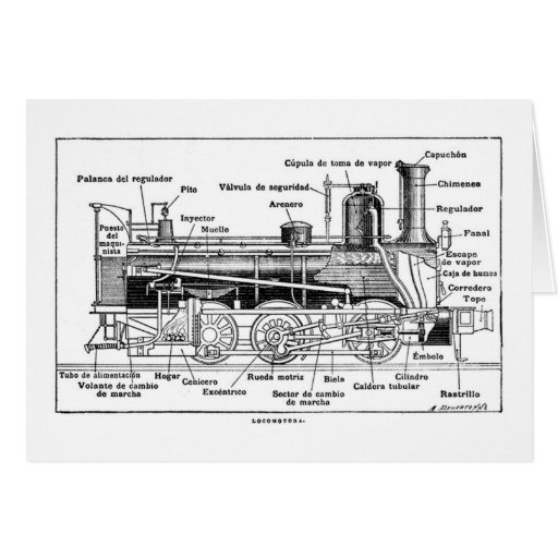 Diagram of Steam Engine Card
