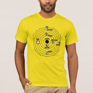 Diagram of the solar system T-Shirt