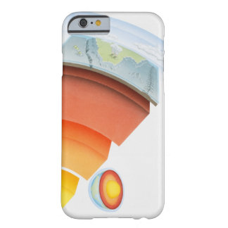 Diagram showing layers of the earth, close-up. barely there iPhone 6 case
