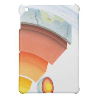 Diagram showing layers of the earth, close-up. iPad mini cover