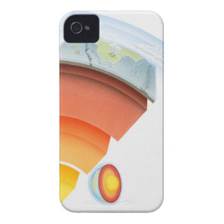 Diagram showing layers of the earth, close-up. iPhone 4 Case-Mate case