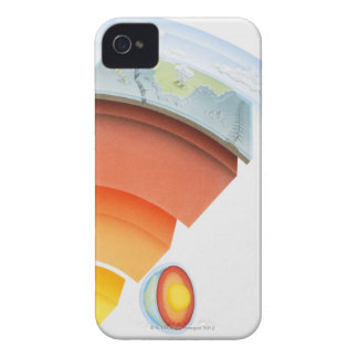 Diagram showing layers of the earth, close-up. iPhone 4 Case-Mate cases