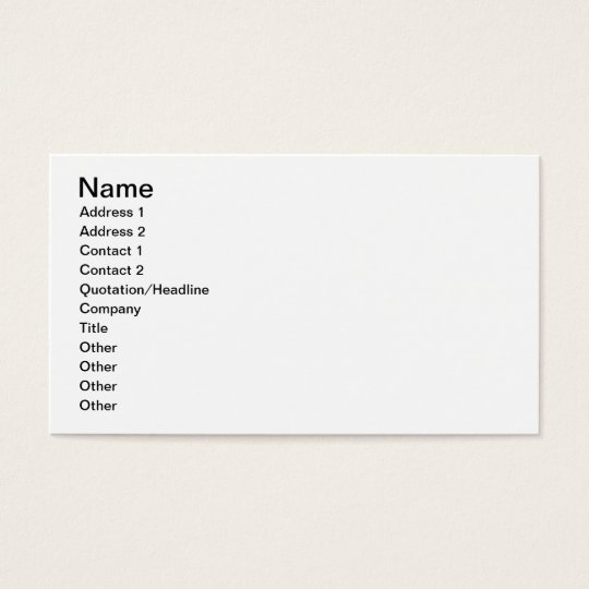 Diagrams of measurements and text (vellum) business card