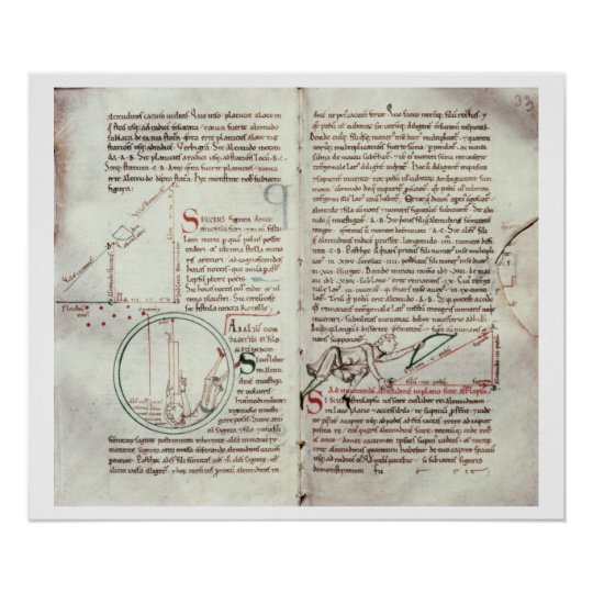 Diagrams of measurements and text (vellum) poster