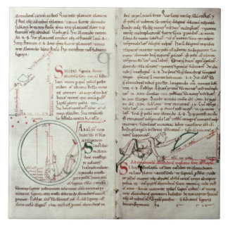 Diagrams of measurements and text (vellum) tile