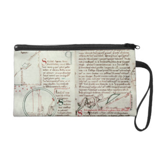 Diagrams of measurements and text (vellum) wristlet