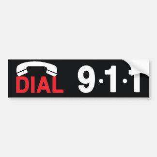 Dial 911 bumper sticker