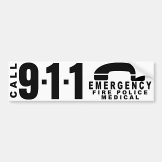 Dial 911 Police Sticker 10 Bumper Sticker