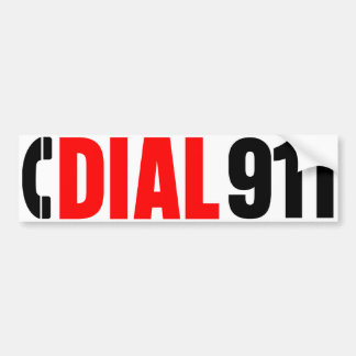 Dial 911 Police Sticker 2
