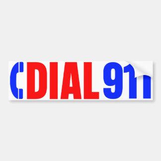 Dial 911 Police Sticker 3 Bumper Sticker