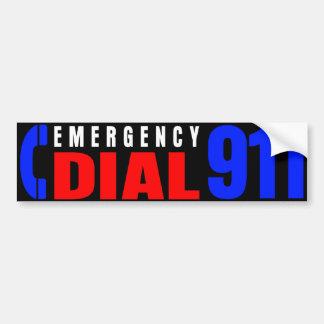 Dial 911 Police Sticker 4 Bumper Sticker