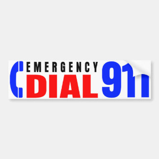 Dial 911 Police Sticker 5 Bumper Sticker