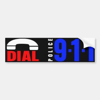 Dial 911 Police Sticker 6 Bumper Sticker