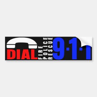 Dial 911 Police Sticker 7 Bumper Sticker