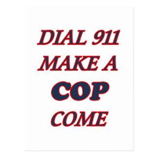 DIAL 911 POSTCARD