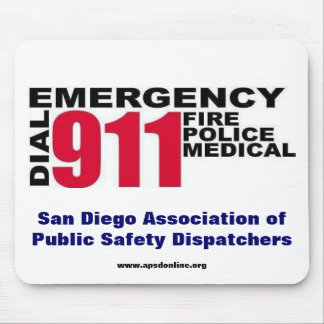 Dial 9-1-1 mouse pad
