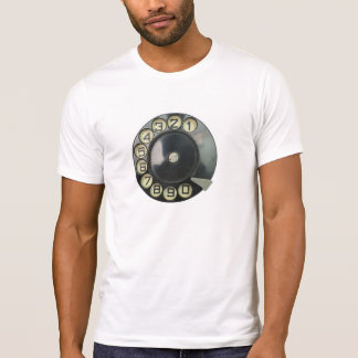 dial disk vintage retro phone number disc rotary T-Shirt