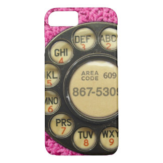 Dial Me Pink iPhone 7 Case