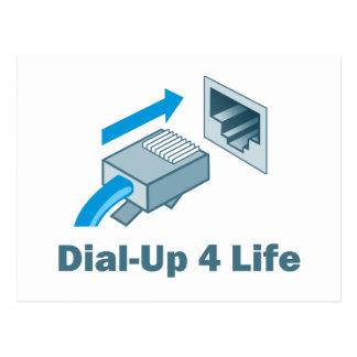 Dial-Up 4 Life Postcard