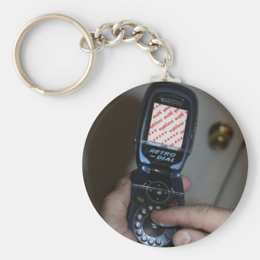 Dial-up Cellular Phone Photo Frame Keychain