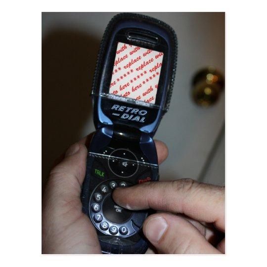 Dial-up Cellular Phone Photo Frame Postcard
