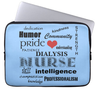 Dialysis Nurse-Attributes/Blue-13 inch Laptop Sleeves