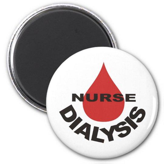 Dialysis Nurse Blood Drop Over 6 Cm Round Magnet