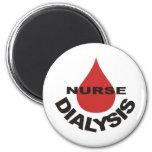 Dialysis Nurse Blood Drop Over Refrigerator Magnets