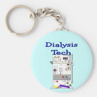 Dialysis Technician--Fresenius Machine Design Basic Round Button Key Ring