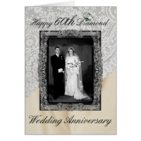 Diamond 60th Wedding Anniversary Elegant
