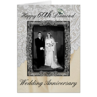 Diamond 60th Wedding Anniversary Elegant Card