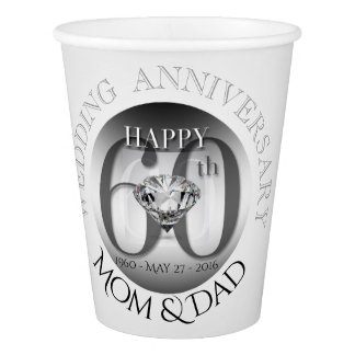 Diamond 60th Wedding Anniversary Paper cup