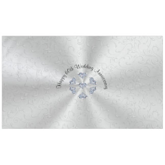 Diamond 60th Wedding Anniversary Table Decorations Tablecloth