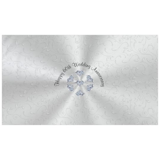 Diamond 60th Wedding Anniversary Table Decorations Tablecloth