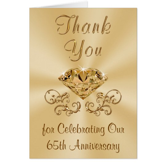 Diamond 65th Anniversary Thank You Cards