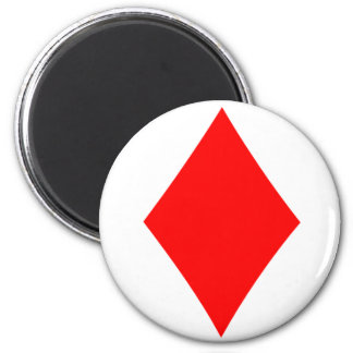 Diamond 6 Cm Round Magnet