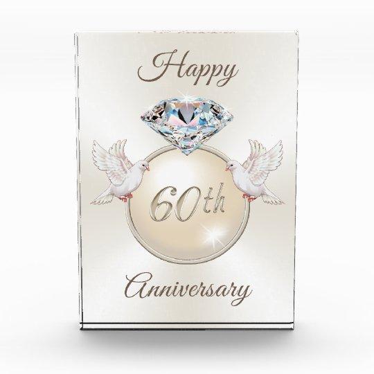 Diamond Wedding Anniversary Gift: Diamond And Doves 60th Wedding Anniversary Gifts