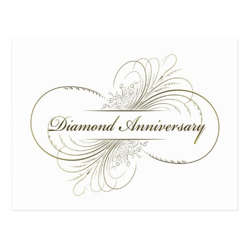 Diamond anniversary postcard