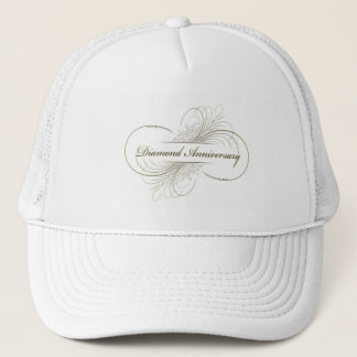 Diamond anniversary trucker hat