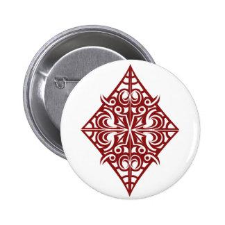 diamond 6 cm round badge