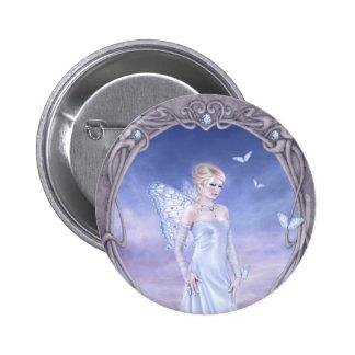 Diamond Birthstone Fairy Button Badge
