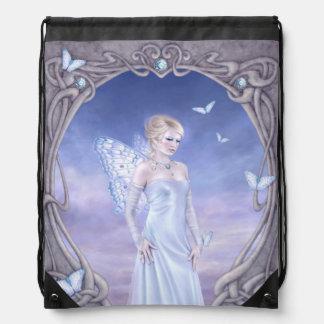 Diamond Birthstone Fairy Drawstring Backpack