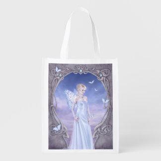 Diamond Birthstone Fairy Reusable Grocery Bag Reusable Grocery Bag