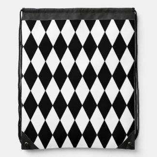 diamond black and white bag
