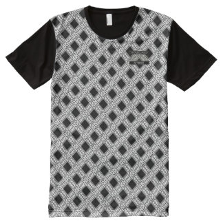 Diamond Black Polka Dots Designer Modern T-Shirt