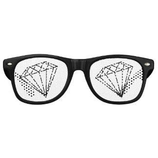 Diamond Black Retro Sunglasses