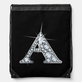 """Diamond Bling"" Drawstring Bags"